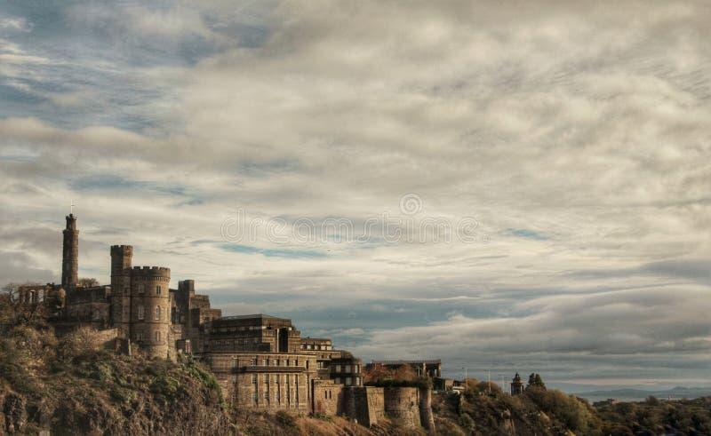 Castello nella collina fotografia stock