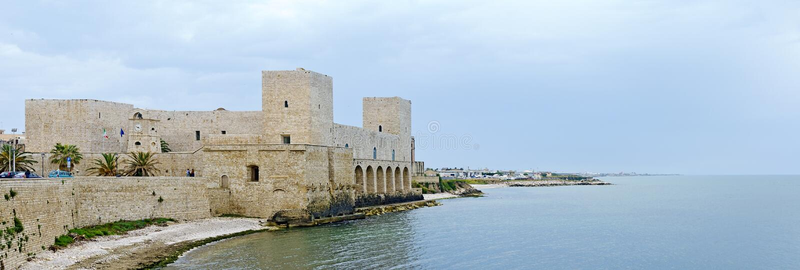 Castello Normanno Svevo a Trani immagine stock