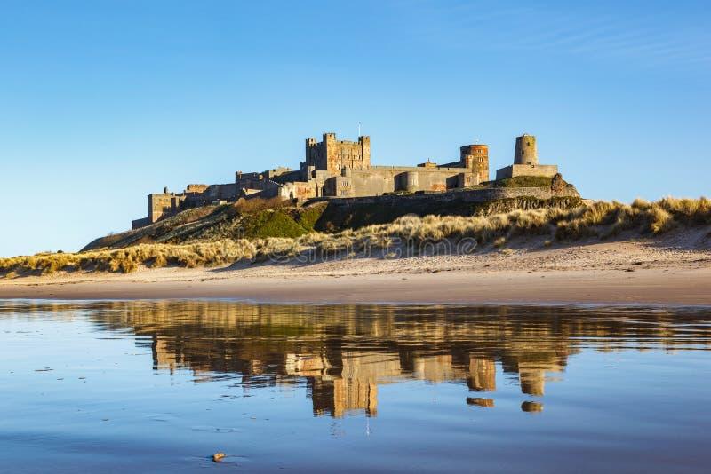 Castello Northumberland Inghilterra di Bamburgh fotografia stock libera da diritti