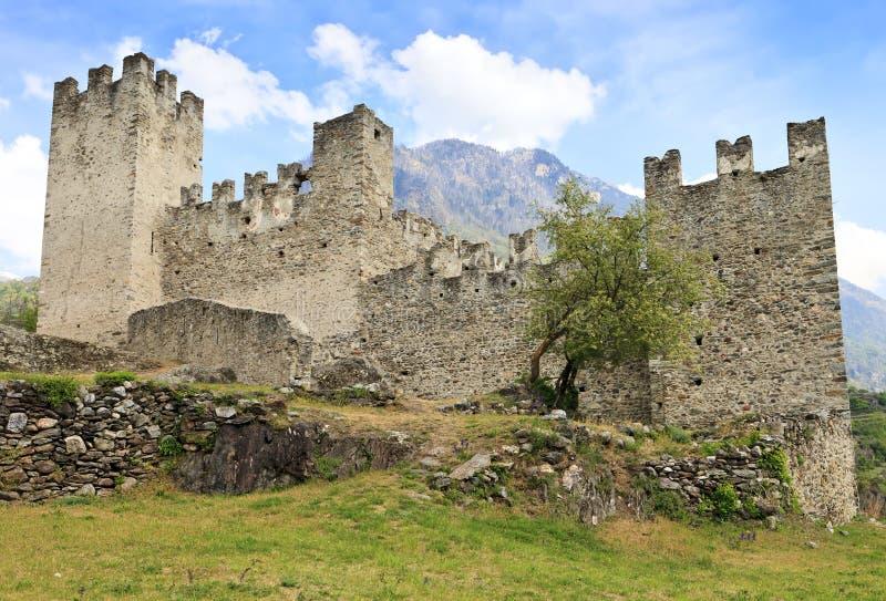 Castello Nuovo in Grosio, Valtellina stock foto