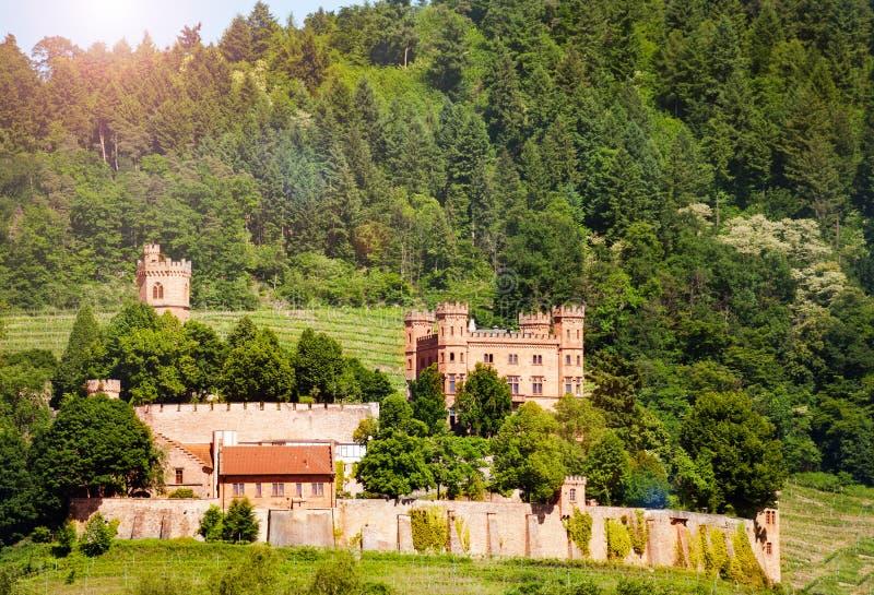 Castello Offenburg Germania di Schlossblicksee Ortenberg fotografia stock libera da diritti