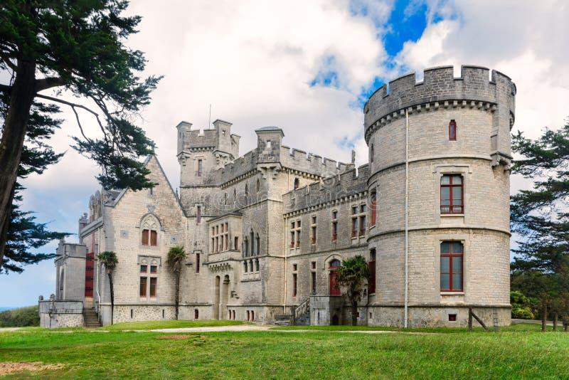 Castello-osservatorio Abbadia in Hendaye nel conteggio basco francese fotografie stock libere da diritti