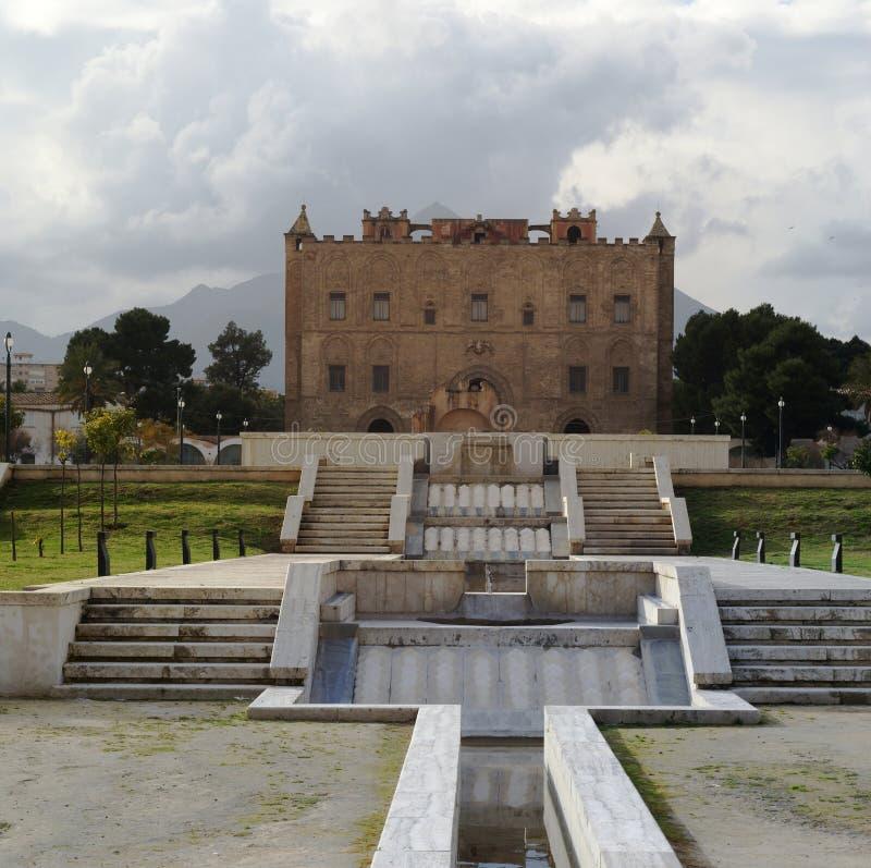 Castello Palermo Sicilia Di Zisa Fotografia Stock