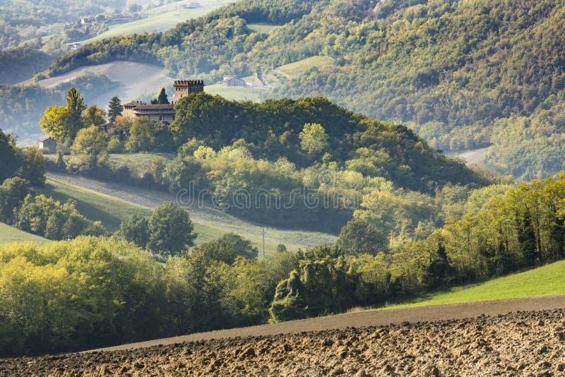 Castello Piacenza Italia di Montechiaro fotografie stock libere da diritti