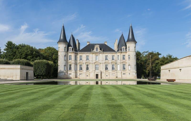 Castello Pichon-Longueville immagine stock