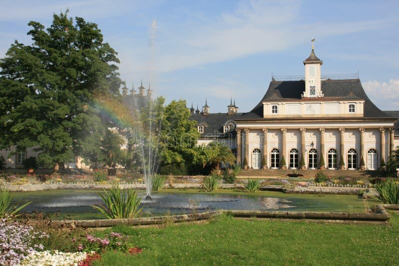 Castello Pillnitz fotografia stock