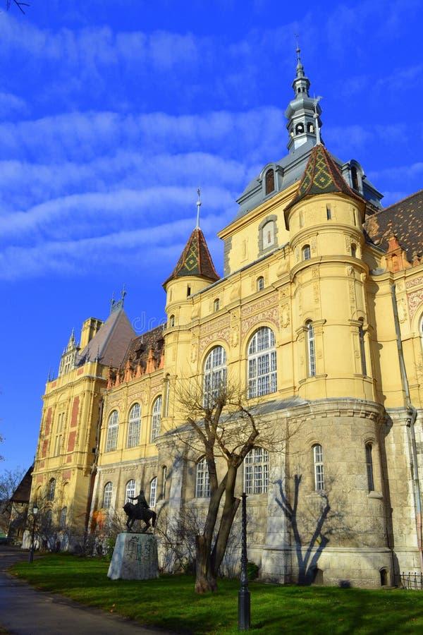 Castello pittoresco di Vajdahunyad, Budapest fotografie stock