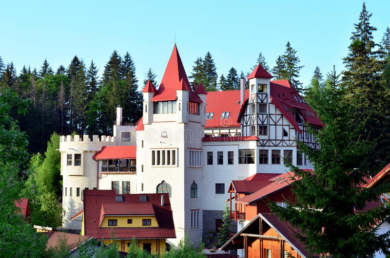 Castello in Poiana Brasov immagine stock