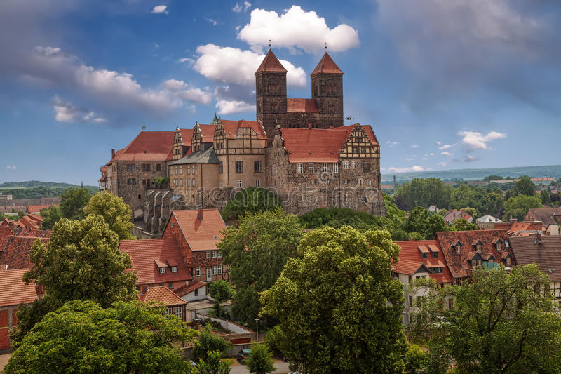 Castello Quedlinburg immagini stock