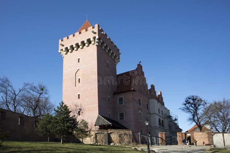 Castello reale alla collina di Przemysl nel distretto di Città Vecchia di Poznan, Polonia fotografia stock