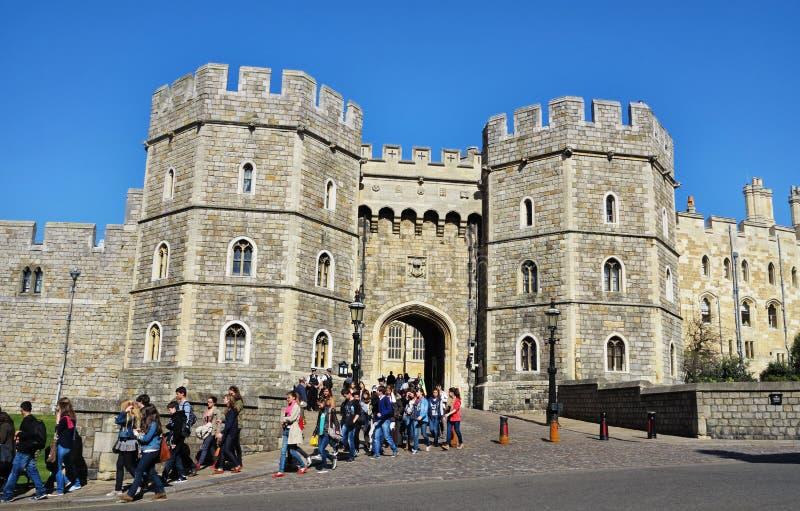 Castello reale di Windsor in Inghilterra immagini stock libere da diritti