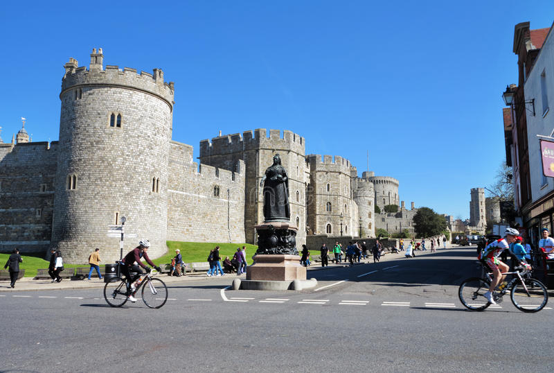 Castello reale di Windsor in Inghilterra immagine stock