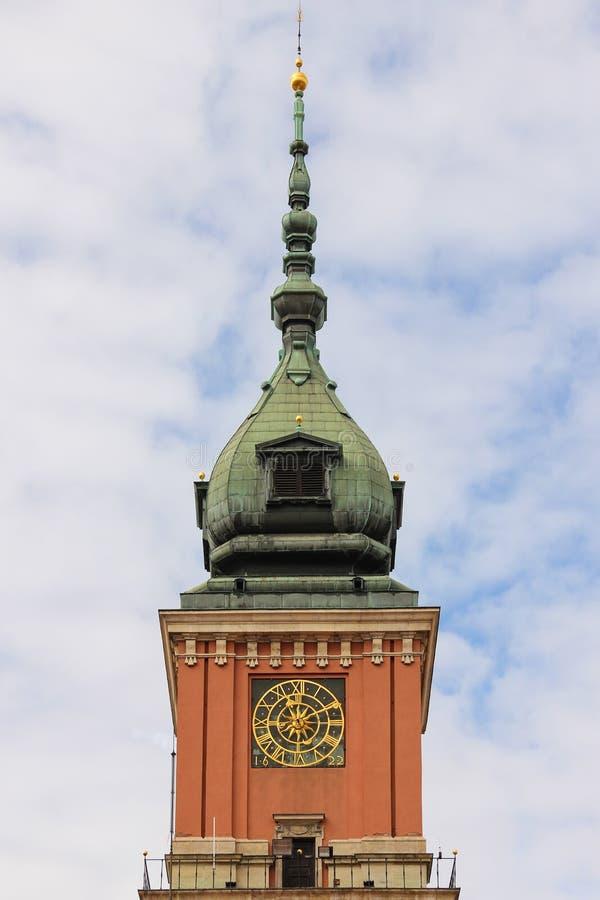 Castello reale. Torre di orologio. Varsavia. La Polonia fotografia stock