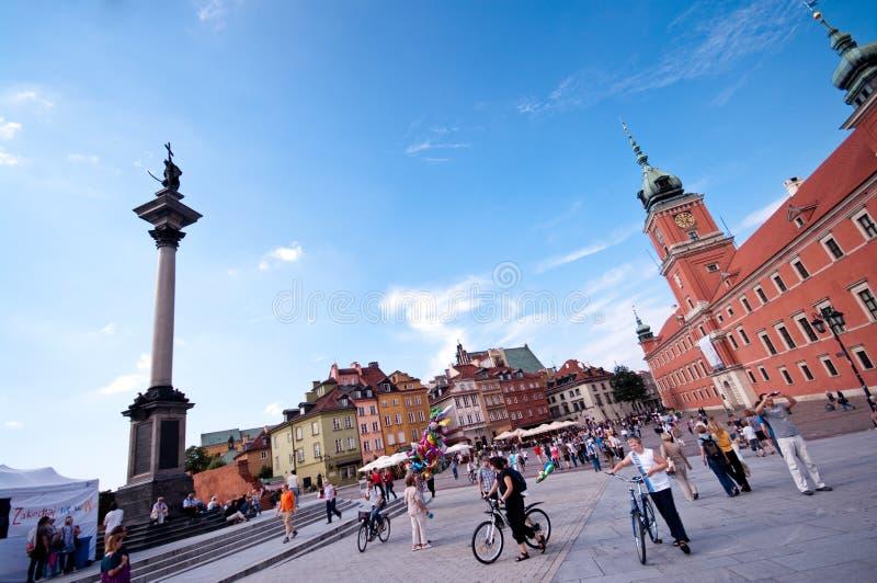 Castello reale a Varsavia fotografia stock