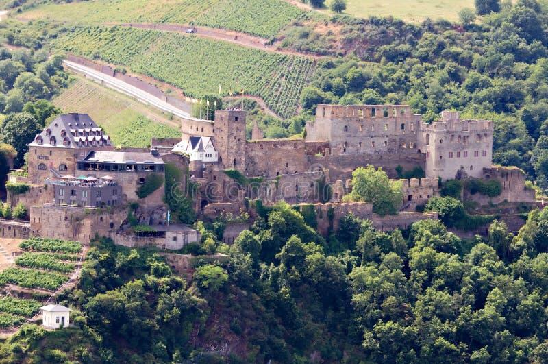Castello Rheinfels nella valle del Reno immagine stock libera da diritti
