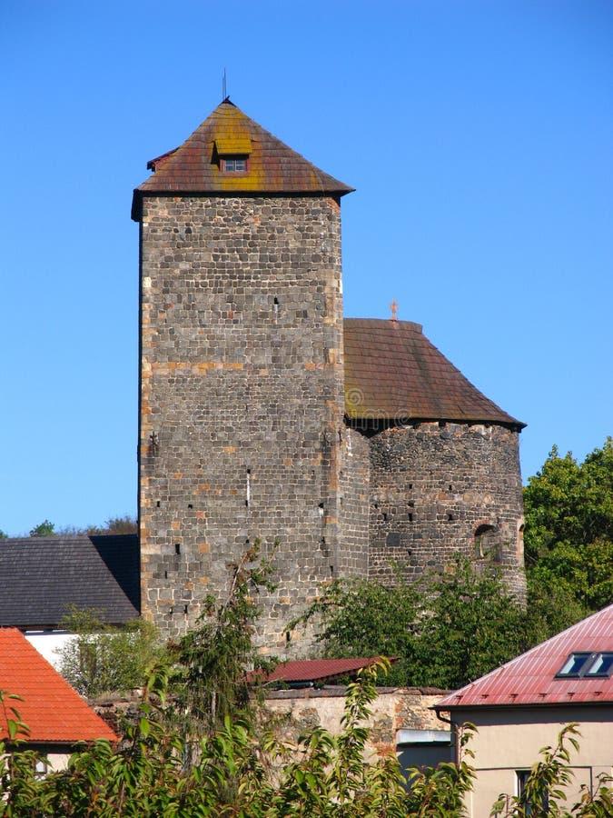 Castello romanico in Tynec nad Sazavou, repubblica Ceca immagini stock libere da diritti