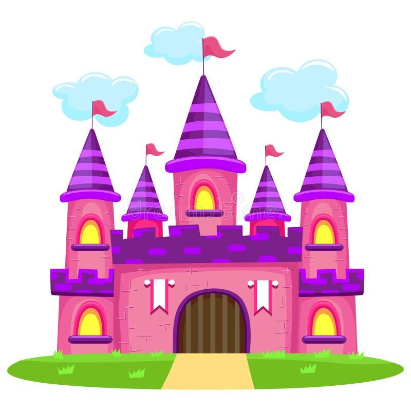 Castello rosa illustrazione di stock
