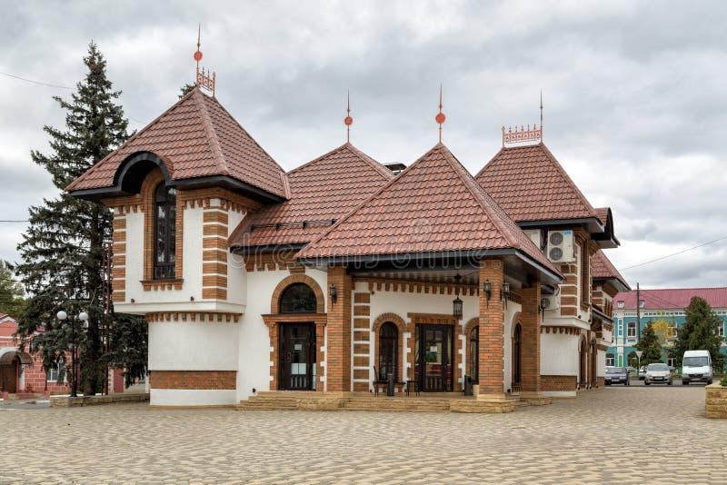 Castello Rosa del ristorante Zadonsk La Russia fotografia stock libera da diritti