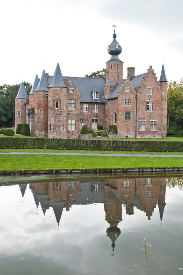 Castello Rumbeke di rinascita fotografia stock