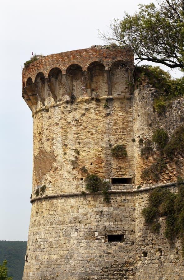 Castello San medioevale Gimignano Italia fotografie stock