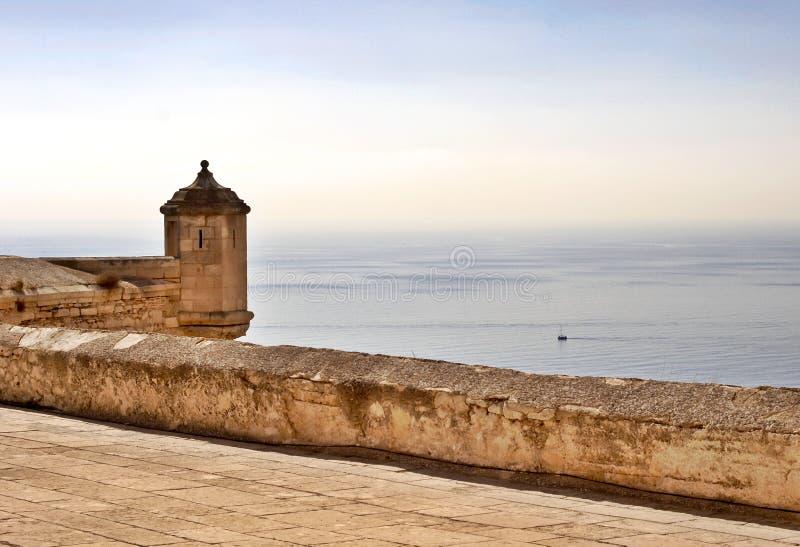 Castello Santa Barbara fotografie stock libere da diritti
