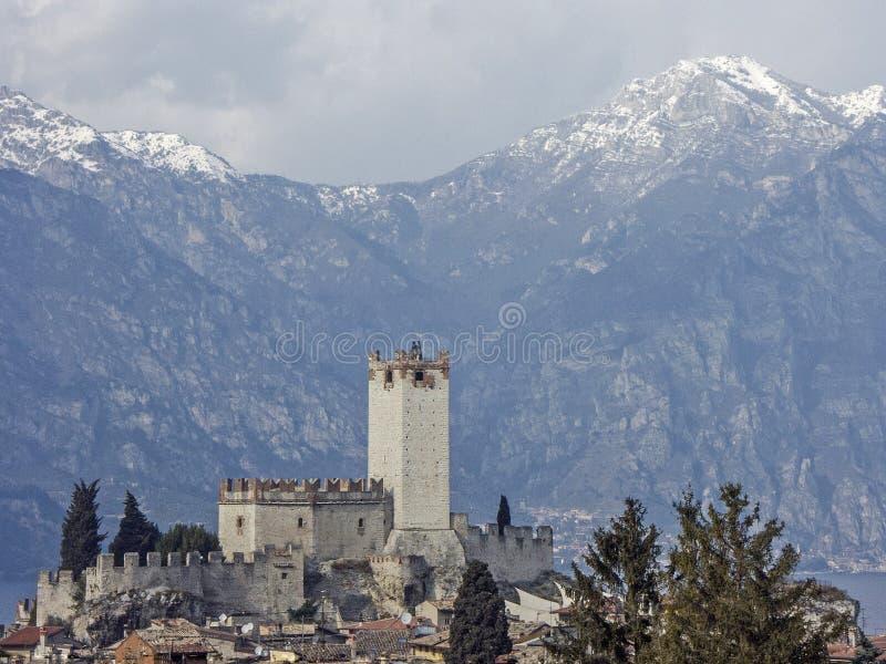 Castello Scaligero in Malcesine in Veneto stock photos