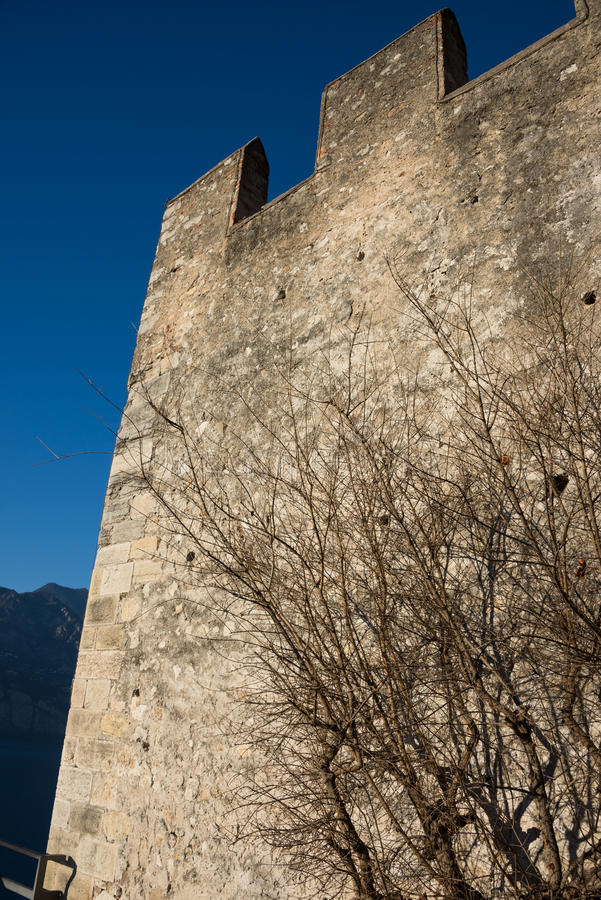 Castello Scaligero på Malcesine, Italien arkivfoto