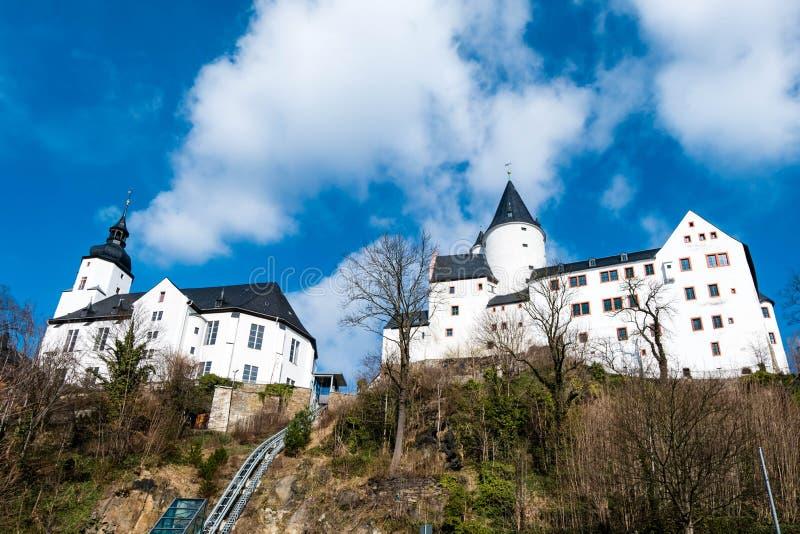 Castello in Schwarzenberg nel Erzgebirge Sassonia Germania fotografia stock libera da diritti