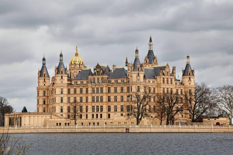 Castello a Schwerin fotografia stock libera da diritti
