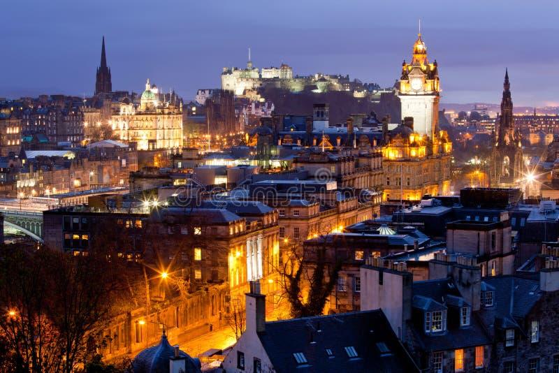 Castello Scozia degli orizzonti di Edinburgh fotografia stock