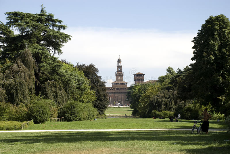 Castello Sforzesco royalty-vrije stock fotografie
