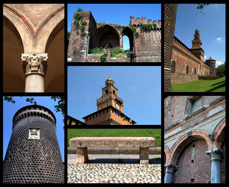 Castello Sforzesco royalty free stock photography
