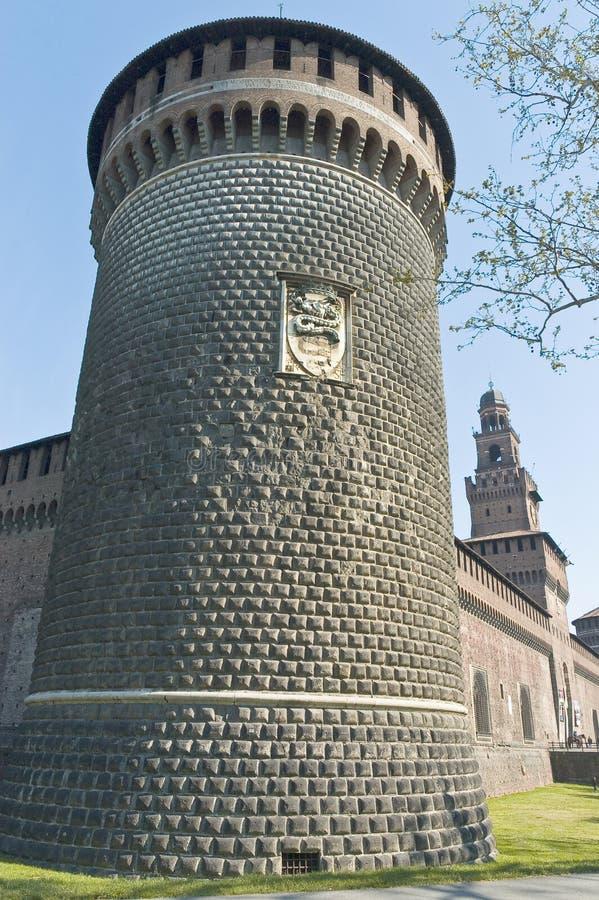 Download Castello Sforzesco At Milan, Italy Stock Image - Image of corner, landmark: 39509757