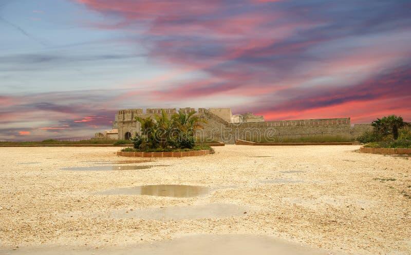 Castello Siracusa. La Sicilia, Italia fotografia stock libera da diritti