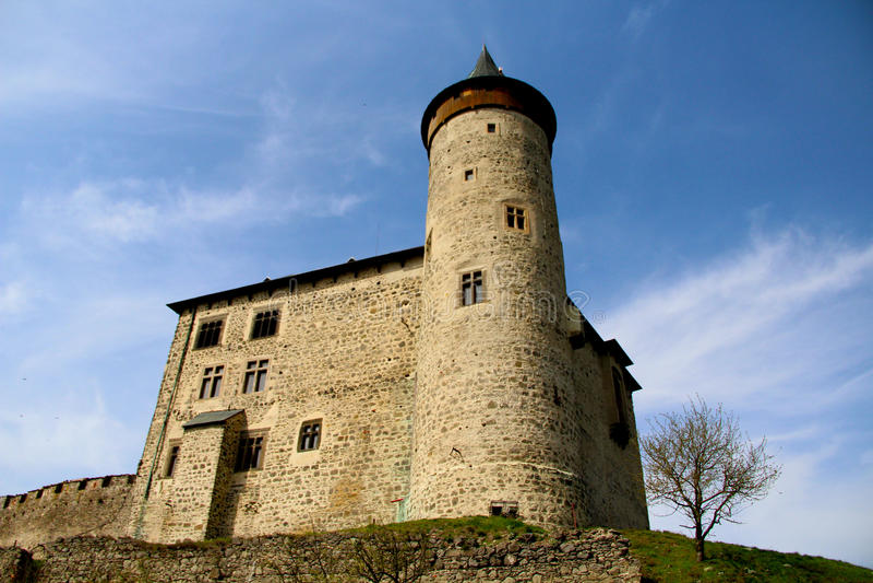 Castello storico fotografie stock libere da diritti