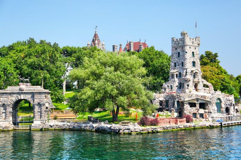 Castello storico di Boldt in 1000 isole di New York fotografia stock libera da diritti