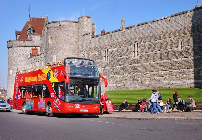 Castello storico di Windsor in Inghilterra fotografia stock