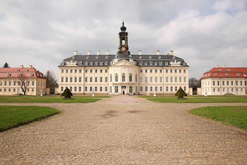 Castello storico Hubertusburg in Sassonia, Germania fotografie stock