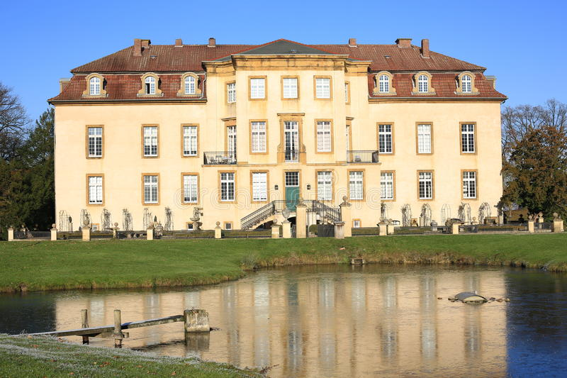 Castello storico Mohler in Vestfalia, Germania fotografia stock