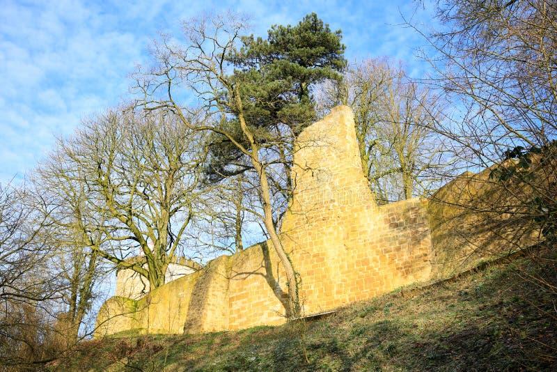 Castello storico Ravensberg in Borgholzhausen, Vestfalia, Germania immagini stock libere da diritti