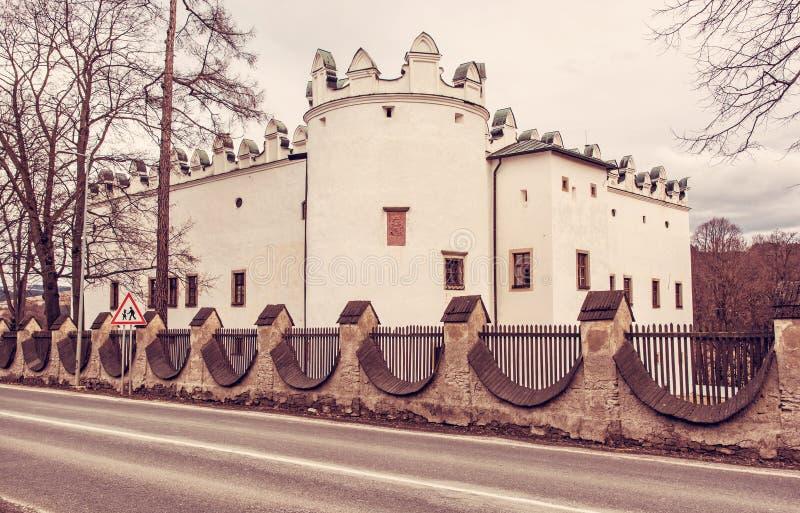 Castello Strazky, Repubblica Slovacca, filtro rosso immagini stock