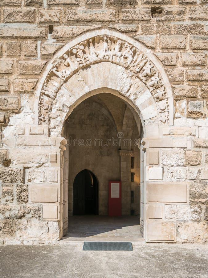 Castello Svevo Swabian slott i Bari, Apulia, sydliga Italien arkivfoto