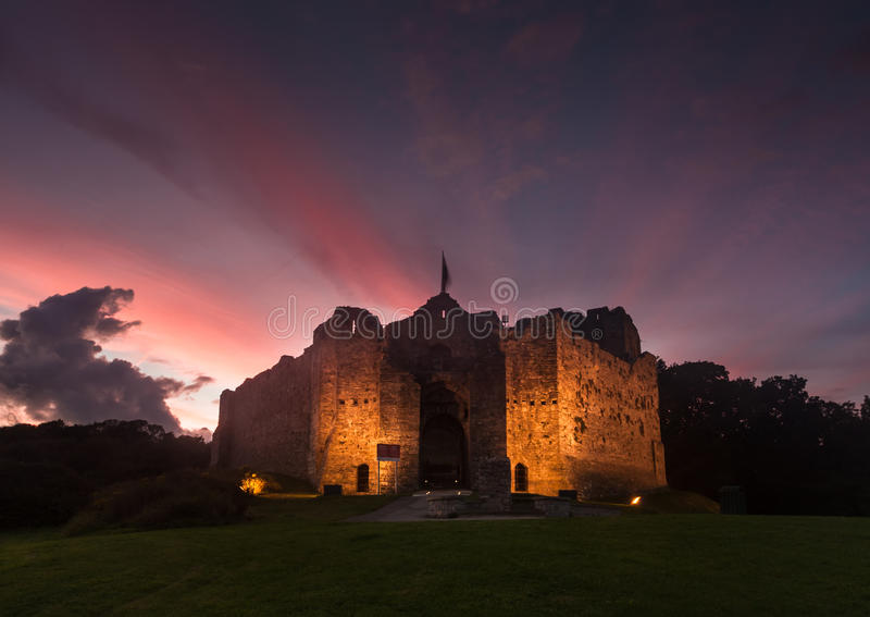 Castello Swansea di Oystermouth fotografie stock