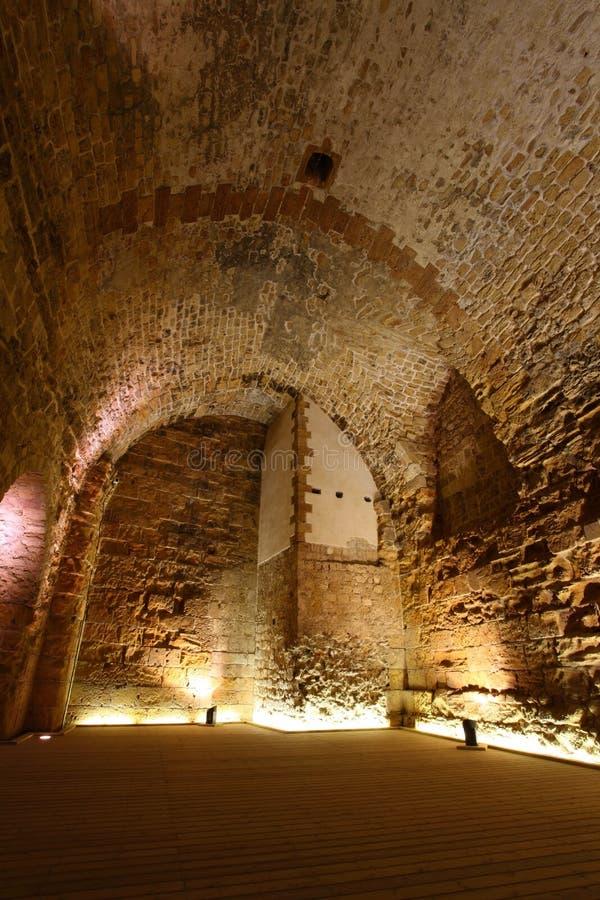Castello templar del cavaliere di acro, immagini stock