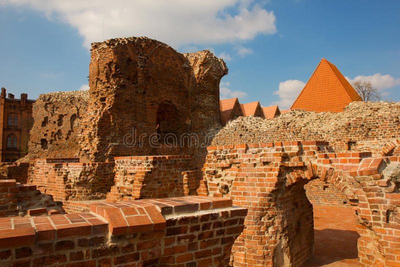 Castello Teutonic dei cavalieri, Torum, Polonia fotografia stock
