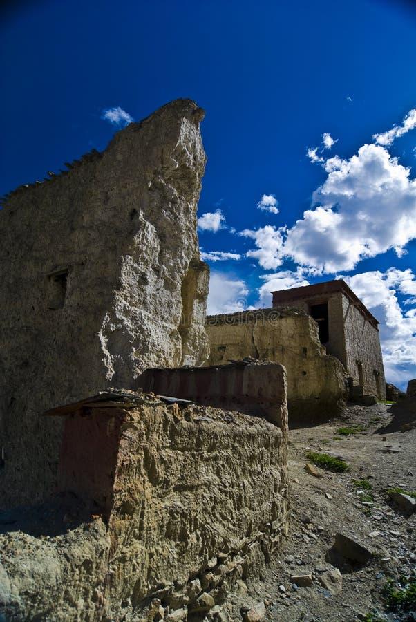 Castello tibetano fotografia stock