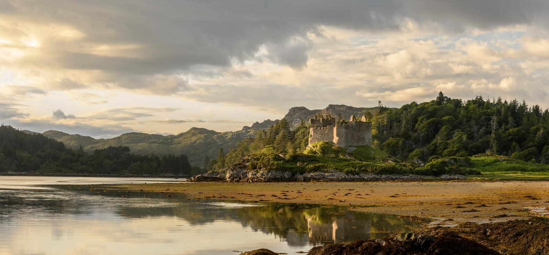 Castello Tioram Ardnamurchan Scozia immagini stock