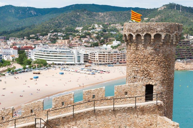 Castello in Tossa spagnolo de marzo immagine stock libera da diritti