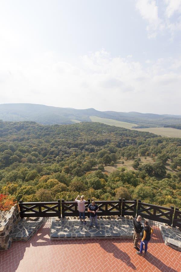Castello Ungheria - immagine panoramica di Holloko fotografia stock libera da diritti