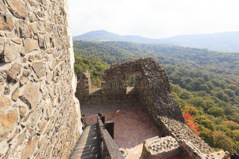 Castello Ungheria - immagine panoramica di Holloko immagine stock libera da diritti